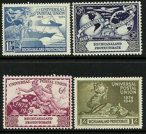 Bechuanaland 1949 UPU set Mint Lightly Hinged Fresh Gum