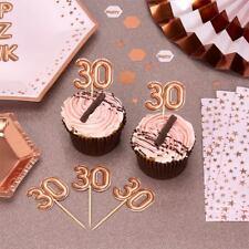 20 X 30th Birthday MILESTONE Rose Gold Cake Food Picks Cupcake Party Decorations