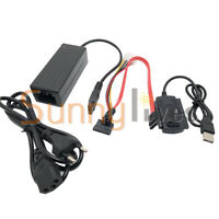 SATA PATA IDE to USB2.0 Converter Power Adapter Cable for 2.5/3.5Inch Hard Drive