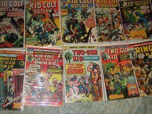 12 cowboy Marvel Comics KID COLT OUTLAW, Rawhide Kid, Ringo Kid, Two-Gun Kid