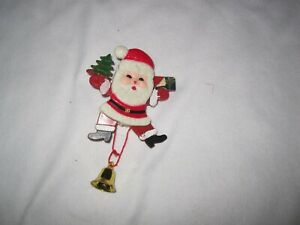 Jumping Santa Plastic Pin