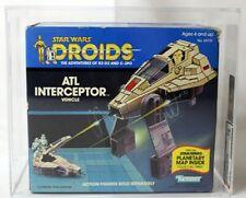 Vintage Star Wars Boxed Droids Vehicle ATL Interceptor AFA 75 #11448735
