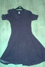 Next dress size 8 burgundy spot
