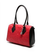 Lux de Ville Matte Red Black Widow Large Spiderweb Tote Duffle Bag