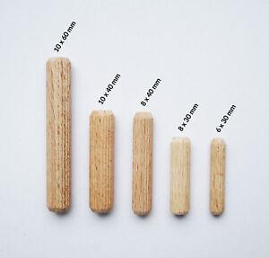 Holzdübel, Riffeldübel, Buche, Holz Dübel, Holzstifte  Ø 6-18mm / Länge 20-160mm