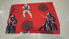 Vintage STAR WARS TWIN FLAT SHEET Red Background Darth Vadar, Stormtroopers