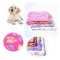 Warm Pet Cushion Mat Paw Print Cat Dog Puppy Fleece Soft Bed Blanket Kennel Pad