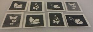 30 x butterfly theme mini stencils for etching on glass hobby craft gift etch