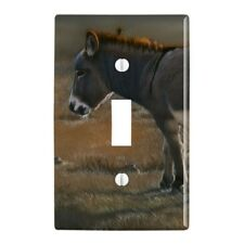 Burro Small Donkey Plastic Wall Decor Toggle Light Switch Plate Cover