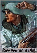German WW2 Wehrmacht Der Leutnant Poster