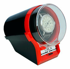CIRCA Watch Winder Case Box Storage Timer Black / Red Automatic
