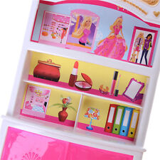 Cute Plastic Bedroom Furniture Wardrobe For Barbie Doll House Decors New NJ