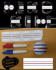 ODYSSEY TRIPLE TRACK DECALS - LINE MARKER STENCIL W/ PENS - POKER CHIP