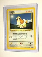 PIDGEY - Base Set - 57/102 - Common - Pokemon Card - Unlimited Edition - NM