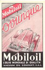 FUTURISMO CARTONCINO PUBBLICITARIO originale 1931 automobilismo MOBILOIL