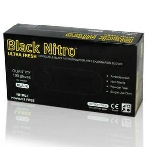 Black Nitro Ultra Fresh Disposables  Powder Free Examination Glove