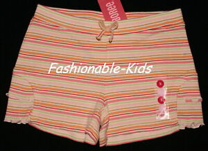 4 NWT Gymboree ALOHA WAHINE Striped Ruffle SHORTS Girls