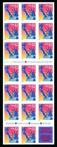 # 3122a Statue of Liberty 32¢ Booklet Pane of 20 MNH