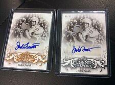 2015 Leaf Legends of Sport Jack Smith Sliver 12/25 Base auto Autograph lot 2