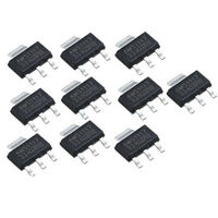 10Pcs New AMS1117-3.3 LM1117 3.3V 1A SOT-223 Voltage Regulator SEAU