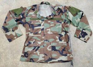 Woodland BDU RAID Modified SOF Uniform Top Medium Regular Slant Pocket