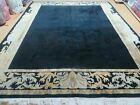 """8' X 10' 6""""  Modern Hand Made TIBETAN NEPAL Wool Rug Carpet Decorative Black"""
