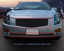 Fits 2003-2007 Cadillac CTS Black Billet Grille Grill Combo Insert Fedar