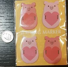 kawaii cartoon Pig WRITING MARKER sticky notepad memo set tabs page markers