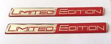 2 x Chrome & Rosso Limited Edition Adesivi/Decalcomanie-EXTRA LUCIDA finitura a CUPOLA Gel