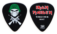 Iron Maiden Adrian Smith Trooper Smith Black Guitar Pick - 2006-2007 Tour
