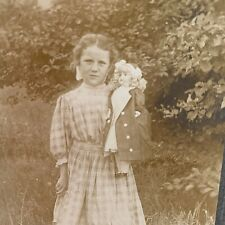 Antique Photo Little Girl and Doll c1920s