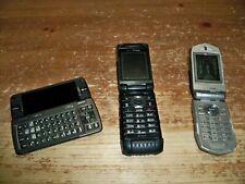 Lot Of 3 - Vintage Verizon Flip Phones - Casio / Lg / Gz One - Complete As Is
