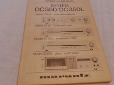 Marantz System CD350/DC350L (PM25, ST25, ST25L and SD25) Owners manual Original