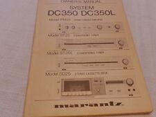 Marantz sistema CD350/DC350L (PM25, ST25, ST25L y SD25) Manual del propietario original