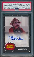 2017 Topps On Demand Mike Quinn Star Wars May 4th Auto Card #20A PSA 8.5 Auto 10