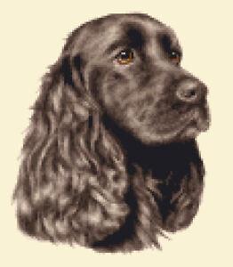 BROWN COCKER SPANIEL dog - FULL counted cross stitch kit *Jann Designs