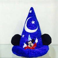 Disney Parks Mickey Mouse Fantasia Hat Sorcerer Wizard Plush Ears hat cap