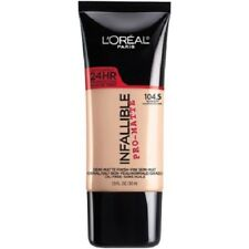LOREAL Infallible Pro Matte Demi Matte Finish Foundation, NUDE BUFF 104.5 NEW