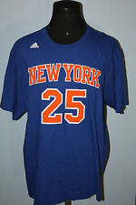 b0788c4e8 Adidas New York Knicks Derrick Rose Textured Blue Jersey Tee Shirt 2XL