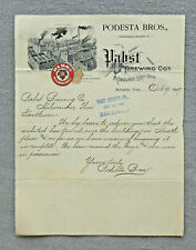 Pabst Brewing Beer Milwaukee pre-pro letter from Podesta Bros., Memphis, Tn