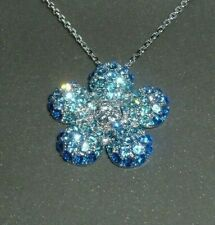 """Pin Pendant Glamour Collection 18"""" New! Nolan Miller Pretty Crystals Pave Flower"""