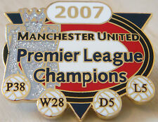 MANCHESTER UNITED Victory Pins 2007 PREMIER LEAGUE CHAMPIONS Badge Danbury Mint