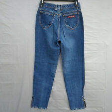 Vintage Jordache Ankle Zippers High Waist Womens Jeans Size 9 - Waist 26 inches