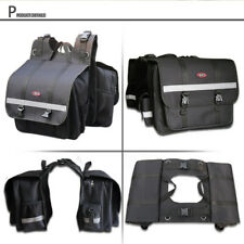 Water Resistance Universal fit Motorcycle Saddlebags Panniers Bags Luggage pair
