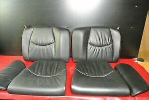 PORSCHE 911 997 TURBO CARRERA CONVERTIBLE REAR SEAT SEATS SET LEATHER RED STITCH