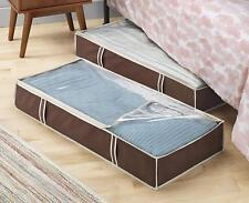 2 Under Bed Storage Bag Linen Blanket Container Closet Box Organizer Holder Bags