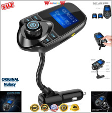 Nulaxy Car FM Transmitter Bluetooth Hands-free LCD MP3 Radio Adapter Kit Charger