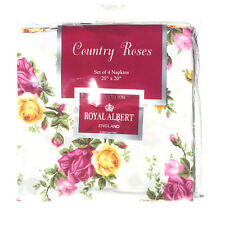 "Royal Albert Old Country Roses Napkins 20"" X 20"" - Set of 4"