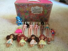 Vintage 1971 Dawn And Her Friends Doll Case With 11 Dolls And 1 Care Bear Nr!