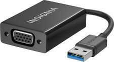 Insignia - USB to VGA Adapter for extra monitor for PC and Mac Black